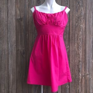B. Smart Hot Pink Mini Spaghetti Strap Dress